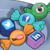 Imagem representando as diversas redes sociais