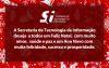 Folder com a Mensagem de Natal da STI em 2016