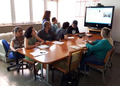Reunião sobre acessibilidade na STI